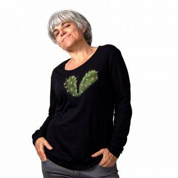 Camiseta manga larga Corazón espinado -- ¿Tienes un cactus donde solías tener un corazón?
