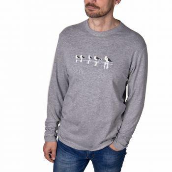 Camiseta manga larga Gaviotas sombrías -- Migrantes sin fronteras