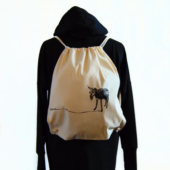 Bolsa Un burro feliz -- Su nombre es Manolín :)