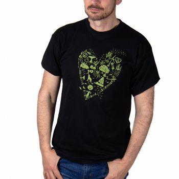 T-shirt Green heart -- I love you green.