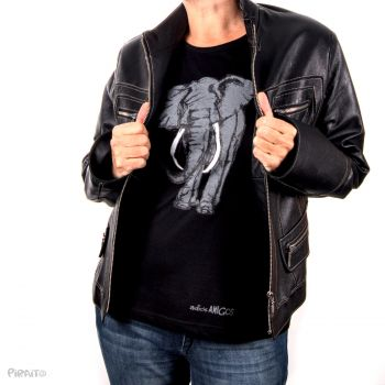 Long sleeve T-shirt Good bye Elephant my friend -- The path of greed