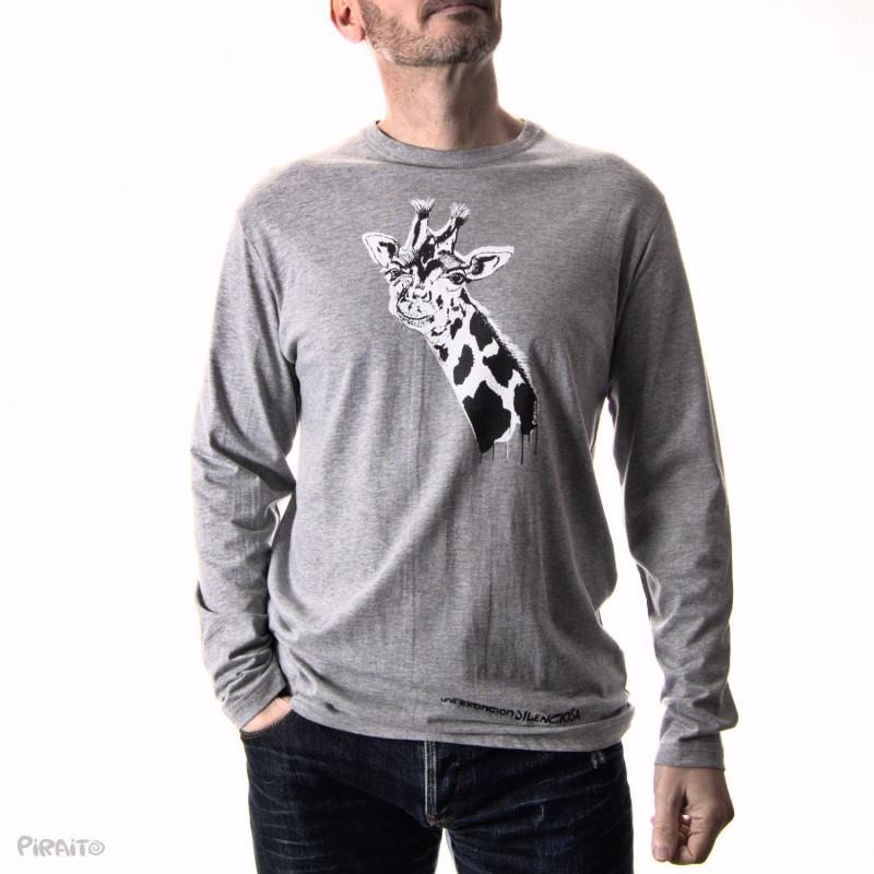 Long sleeve T-shirt Good bye my friend Giraffe -- A silent extinction