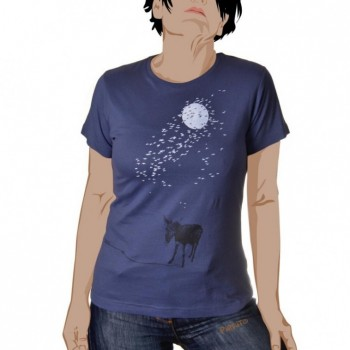 T-shirt Donkey in the moonlight -- Games nightfall