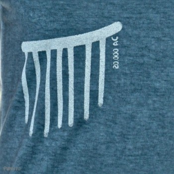 T-shirt Rock art: The rain -- Trivial ancient scenes...///Life cycles-detalle