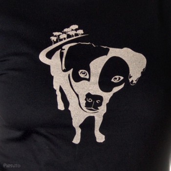 T-shirt Breña: dog rescued in the bushes -- Thank you for rescue me :)-detalle