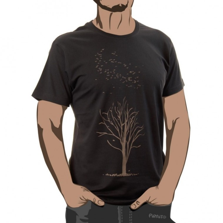 T-shirt Poplar tree in winter -- The fall of the last standing