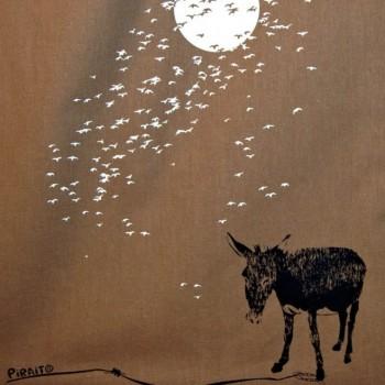 Bolsa Un burro bajo la Luna -- Juegos del anochecer-detalle