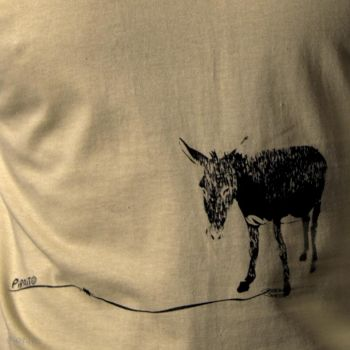 T-shirt A happy donkey -- His name is Manolin :)-detalle