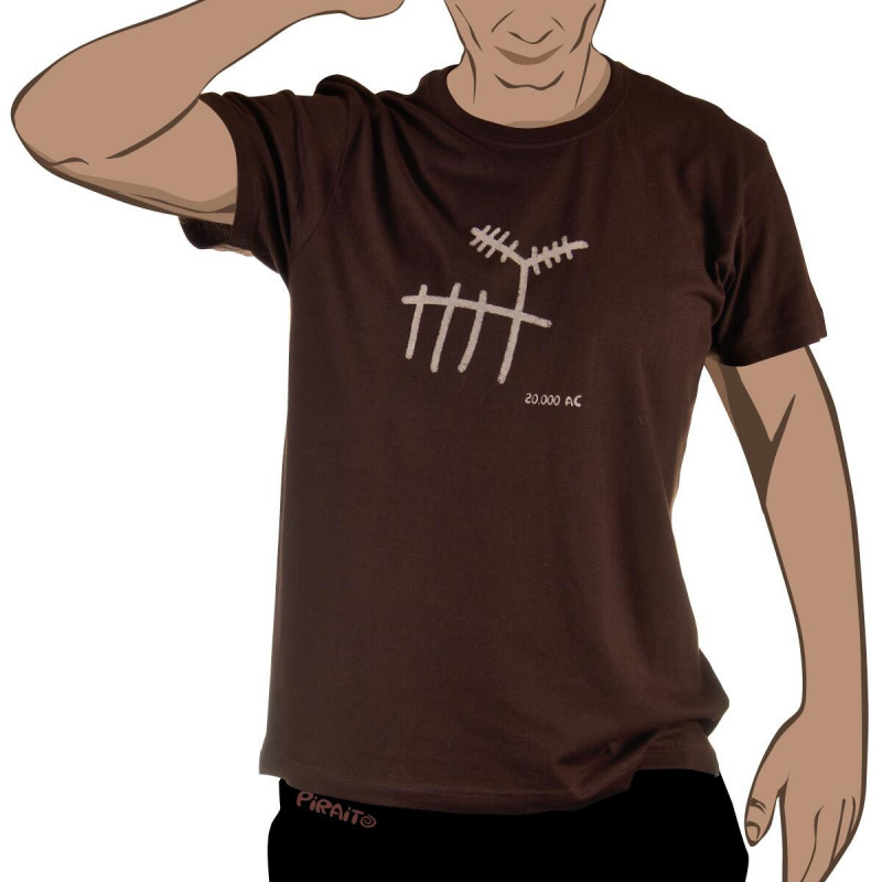 T-shirt Rock art: The deer -- Trivial ancient scenes