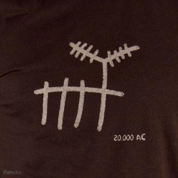 T-shirt Rock art: The deer -- Trivial ancient scenes