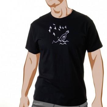 Camiseta Tienes un mensaje -- Un mensaje en las redes sociales,///como un mensaje en una botella