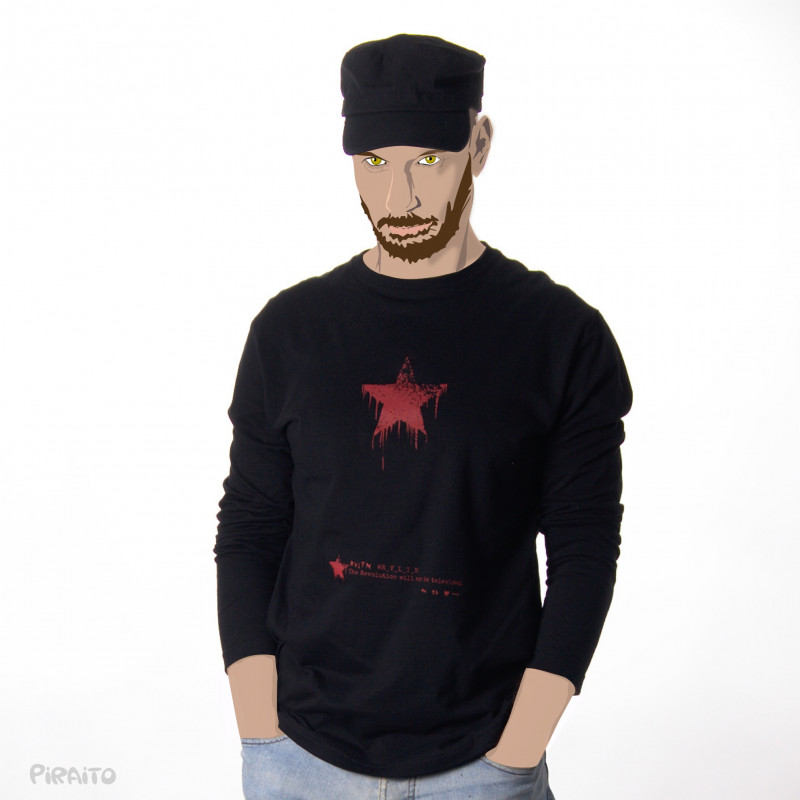 Long sleeve T-shirt @R_V_L_T_N -- The revolution will not be televised