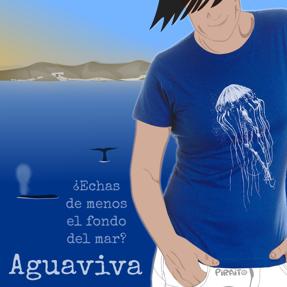 Camiseta Aguaviva. Piraito