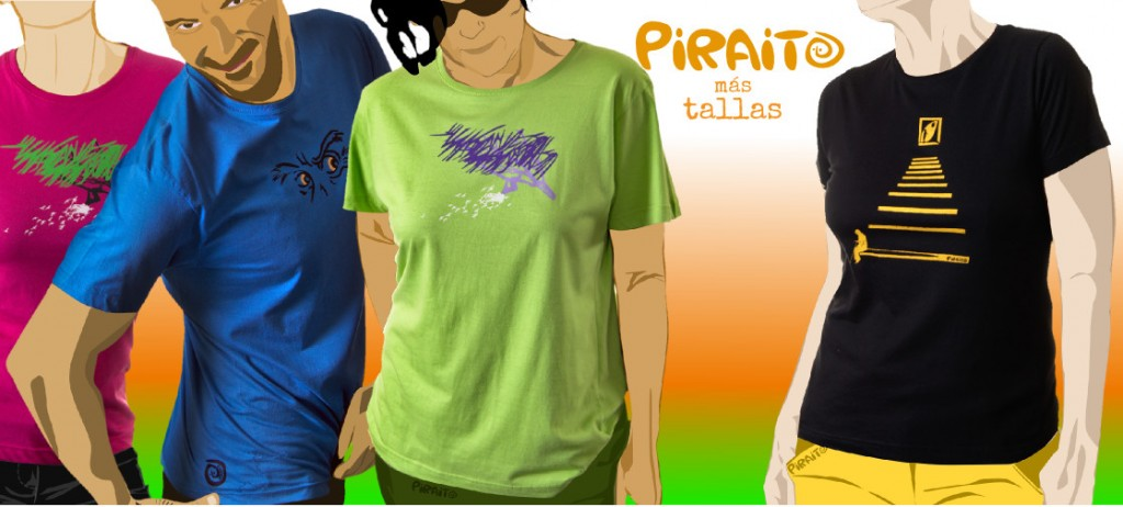 nuevas tallas de camisetas Piraito